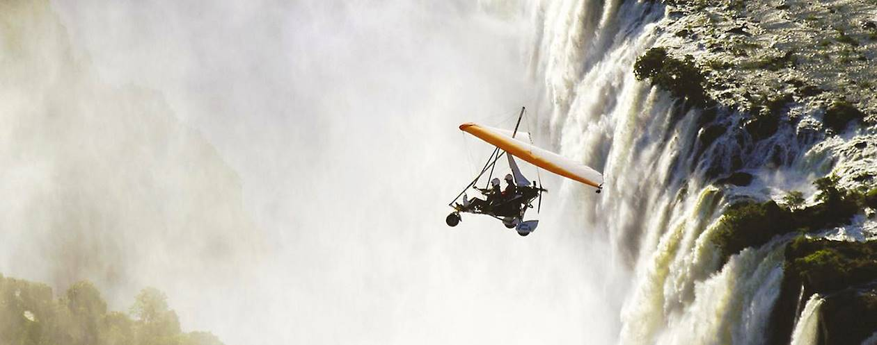 Survol des chutes Victoria en ULM - Zimbabwe