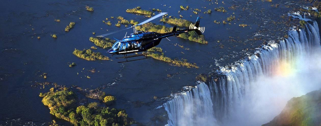 Survol des chutes Victoria en hélicoptère - Zimbabwe