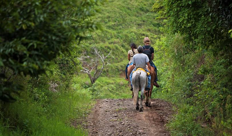 Balade à cheval jusqu'aux Chutes Nauyaca - Uvita - Costa Rica