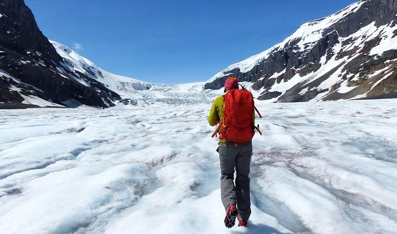 Marche sur le glacier Athabasca - Alberta - Canada