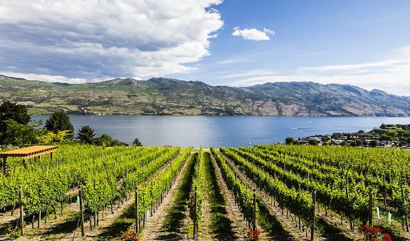 La route du vin au bord du lac et dégustations - Kelowna - Colombie Britannique - Canada