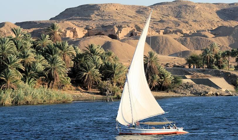 Balade en felouque sur le Nil - Egypte