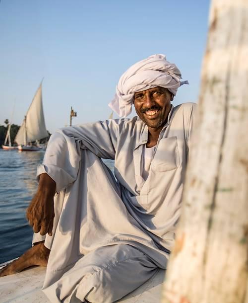 Navigation sur le Nil, Assouan - Egypte