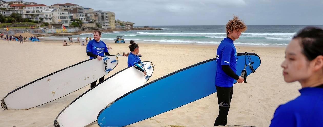 Cours de surf à Bondi Beach - Sydney - Australie
