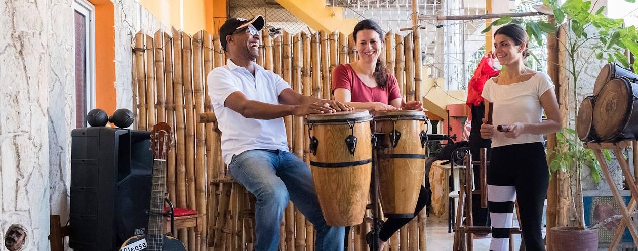 Cours de percussions - La Havane - Cuba
