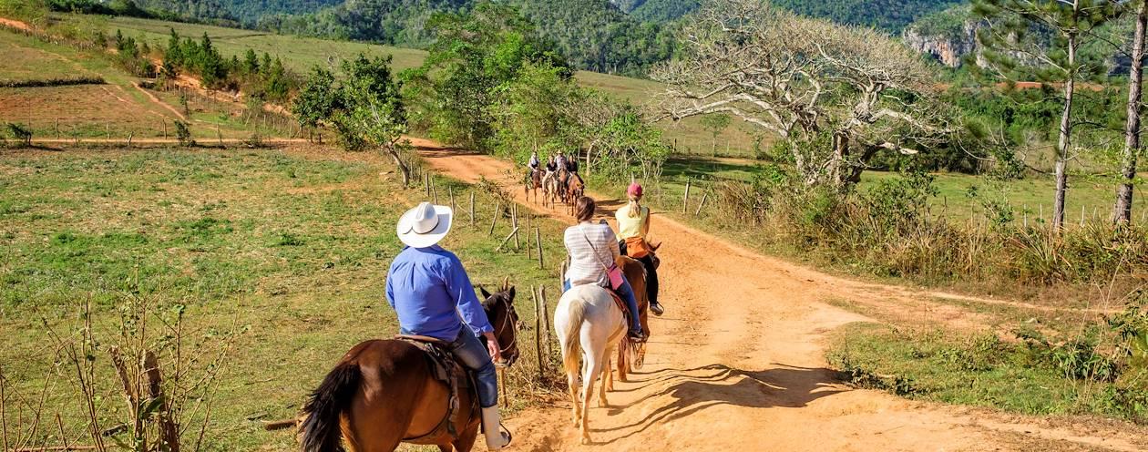 Randonnée à cheval - Vinales - Province de Pinar del Rio - Cuba