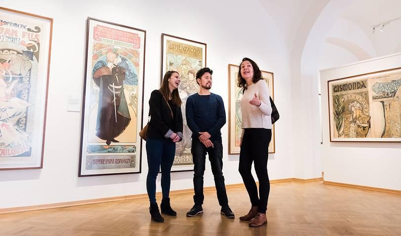 Visite avec une guide au Musée Mucha, maître de l'Art Nouveau - Prague - République Tchèque