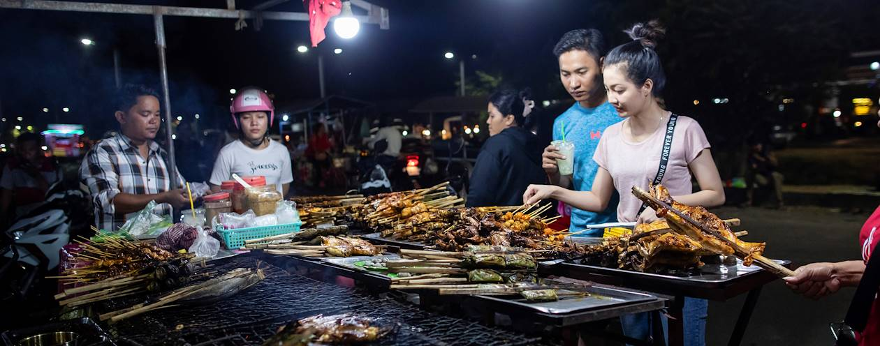 Street food sur la Route 60 - Siem Reap - Cambodge