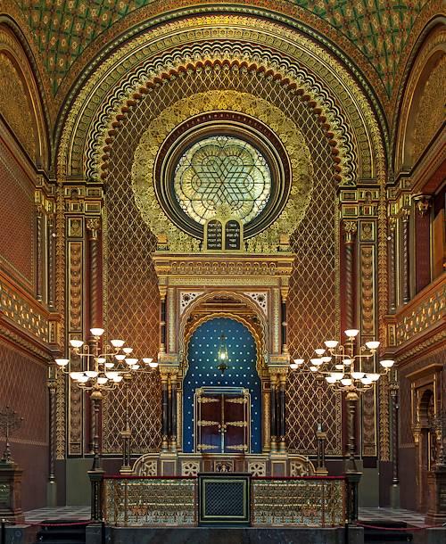 Intérieur de la Synagogue Espagnole - Prague - République Tchèque