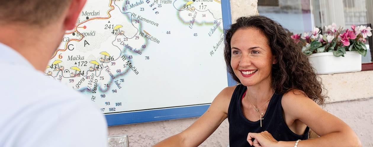 Rencontre avec Carine, notre Welcome Host à Tivat - Monténégro