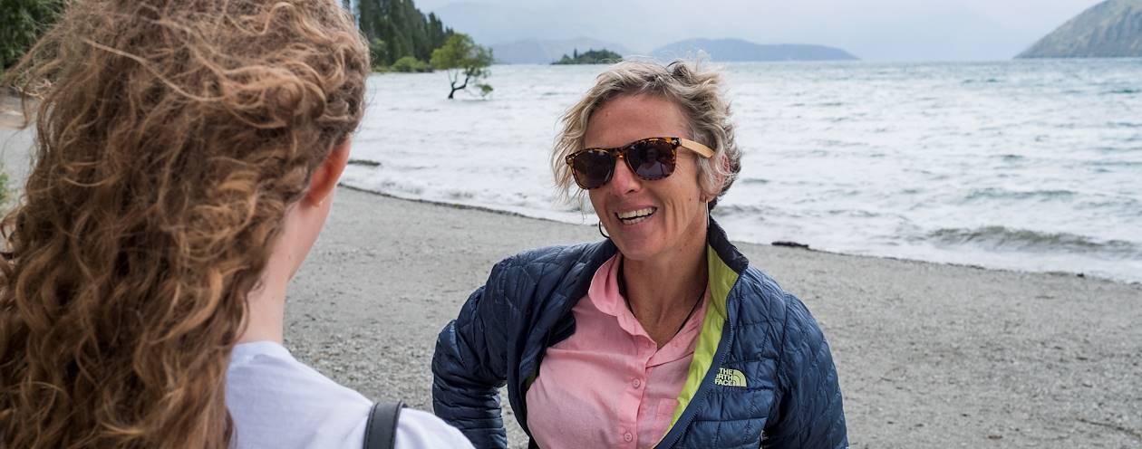 Rencontre avec Karine, notre Welcome Host à Wanaka - Île du Sud - Nouvelle Zélande