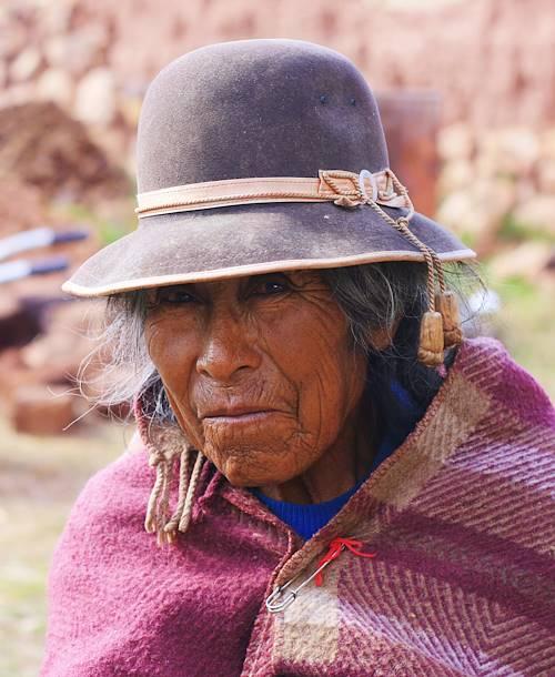 Portrait d'une femme de la communauté Kollas - Humahuaca - Argentine