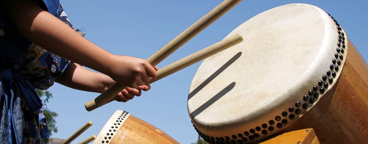 Initiation au tambour japonais - Japon