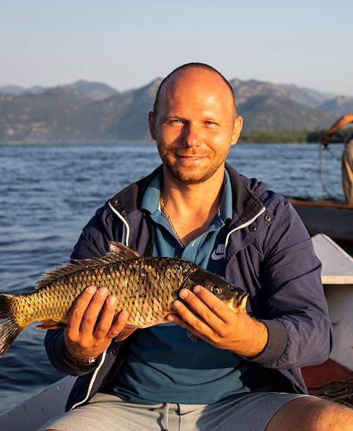 Pêche sur le lac de Skadar - Monténégro