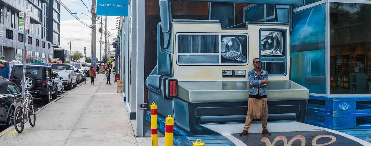 Street art dans le quartier de Wynwood - Miami Beach - Floride - Etats-Unis