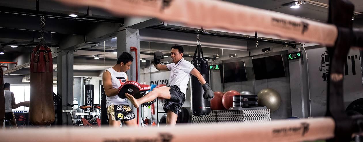 Entrainement de boxe thaïe - Bangkok - Thaïlande