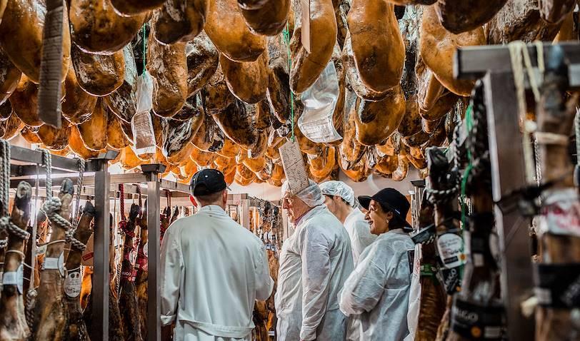 Sur la route du jambon ibérique à Corteconcepcion - Andalousie - Espagne