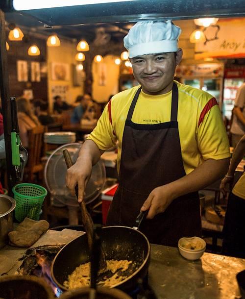 Marchés et street food by night - Chiang Mai - Thaïlande
