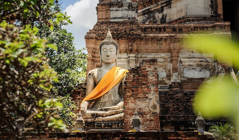 Statue de Bouddha au Temple Wat Yai Chaimongkon - Ayutthaya - Thaïlande