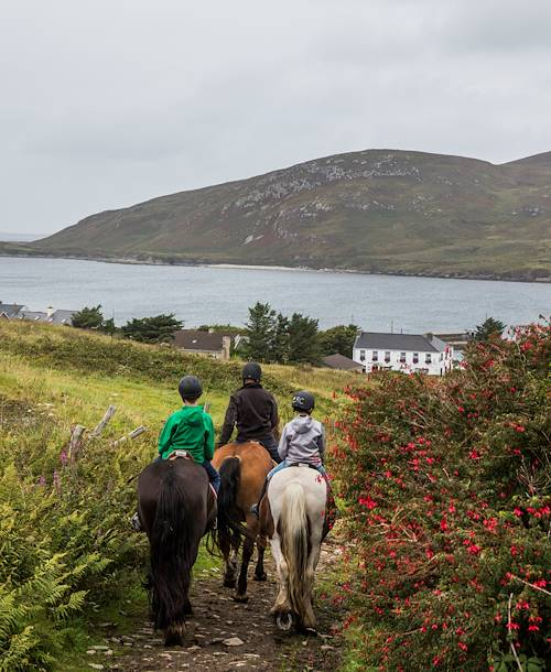 La plage Selerna à cheval - Cleggan - Comté de Galway - Irlande