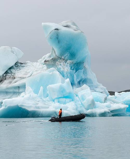Les icebergs bleutés de la lagune Jökulsarlon - Skaftafell - Islande