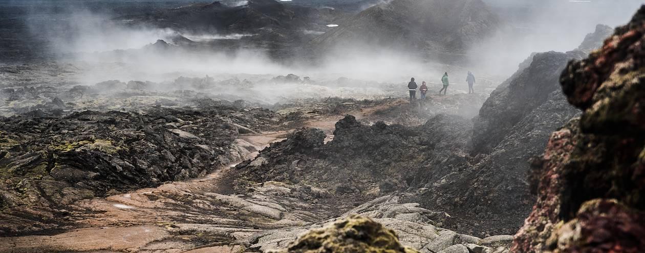 Paysage volcanique autour du lac Myvatn - Myvatn - Nord-Est - Islande