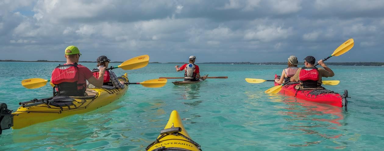 Balade en canoe-kayak dans la Lagune de Bacalar - Bacalar - Quintana Roo - Yucatan - Mexique
