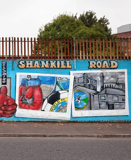 Peintures murales sur Shankill Road - Belfast - Irlande du Nord - Royaume Uni