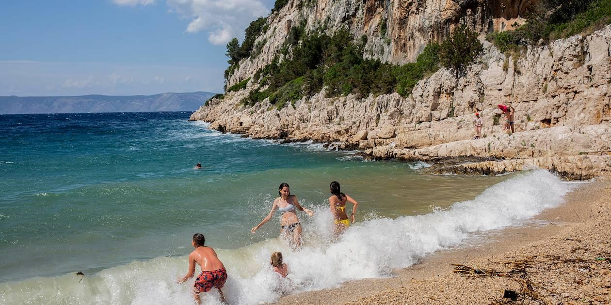 Plage à Humac - Hvar - Croatie
