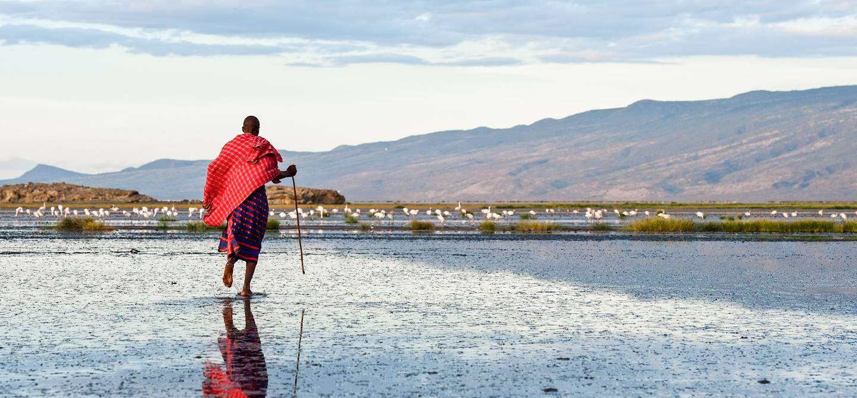 Massaï au lac Natron - Vallée du Rift - Tanzanie