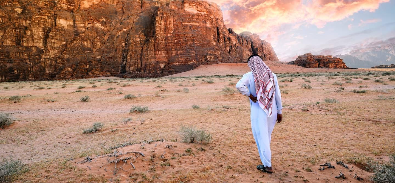 Bédouin dans le désert du Wadi Rum - Jordanie