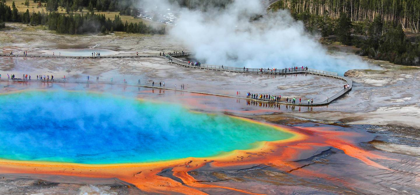 Grand Prismatic Spring - Parc national de Yellowstone - Wyoming - Etats-Unis