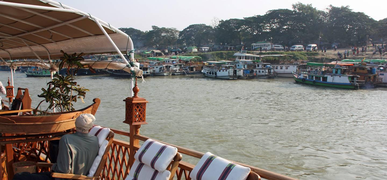 Navigation sur le fleuve Irrawaddy - Birmanie