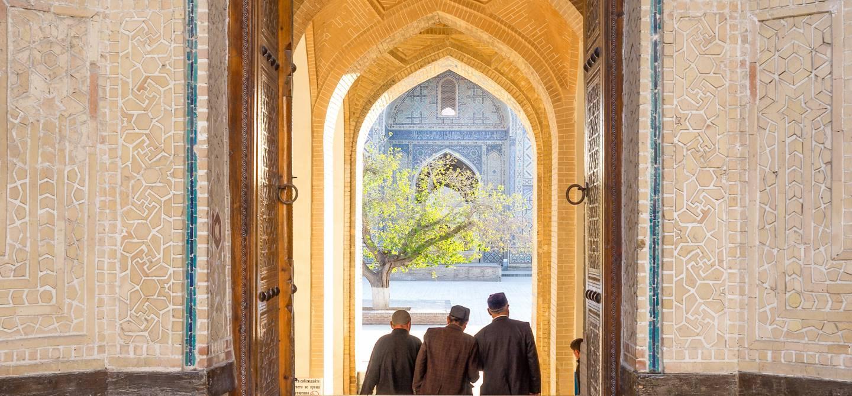 Entrée principale de la mosquée Kalon - Boukhara - Ouzbekistan
