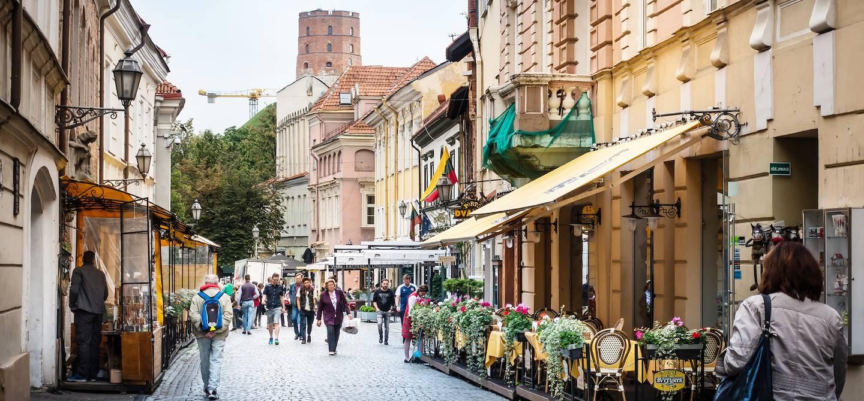Rue du centre-ville de Vilnius - Lituanie