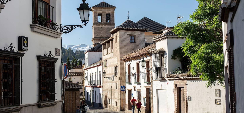 Quartier du Albaicin - Grenade - Andalousie - Espagne