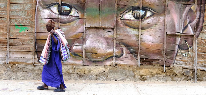 Street art dans le quartier de la Médina de Dakar - Région de Dakar - Sénégal
