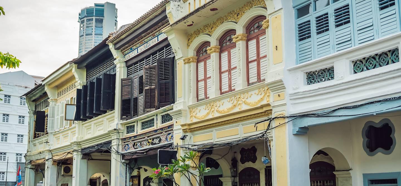 Architecture traditionnelle dans le vieux quartier de Georgetown - Penang - Malaisie