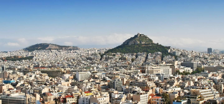 Vue d'Athènes et de la colline le Lycabette - Athènes - Grèce