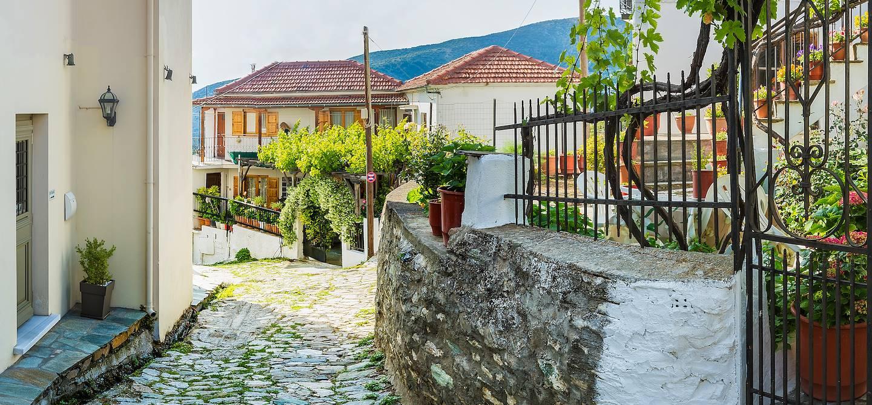 Dans les rues de Portaria - Région de Théssalie - Grèce