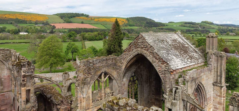 Melrose Abbey - Région des Borders - Ecosse - Royaume-Uni