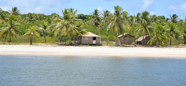 Le village de plage de Mangue Seco - Bahia - Brésil