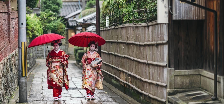 Geishas - Kyoto - Île de Honshu - Japon