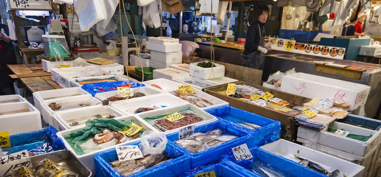 Le marché aux poissons de Tsukiji - Tokyo - Japon