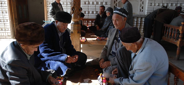 Dans une tchaïkana - Ouzbekistan