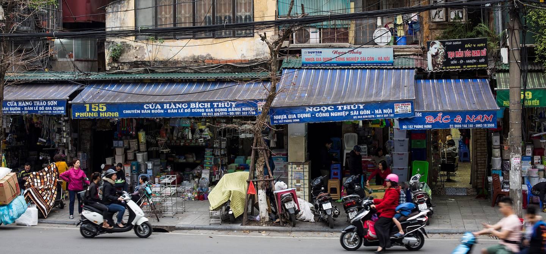 Dans le centre-ville animé de Hanoï - Hanoï - Vietnam