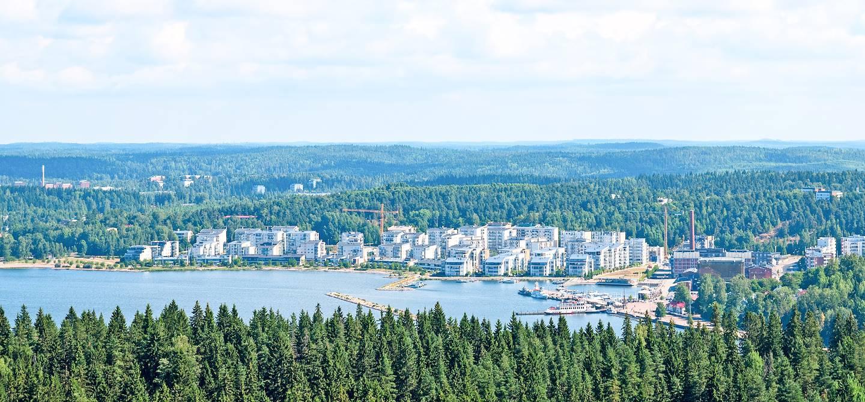 Vue sur la ville et le lac Vesijärvi - Lahti - Päijät-Häme - Finlande