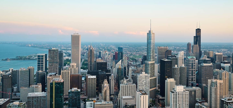 Panorama sur la ville de Chicago - Etat de l'Illinois - Etats-Unis