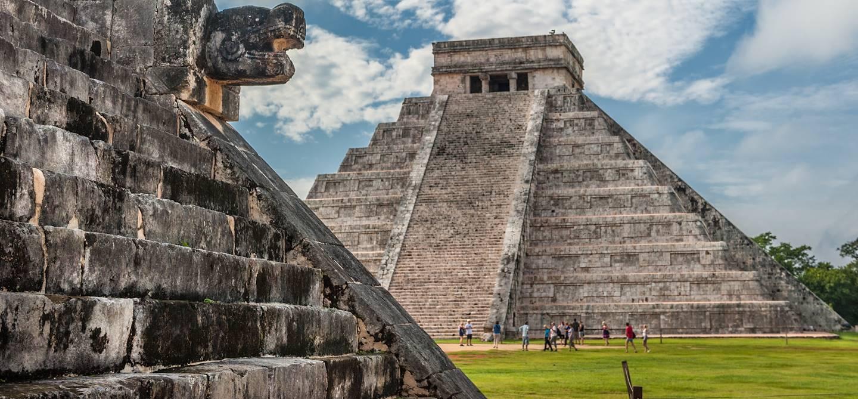 Temple de Kukulcán, ou El Castillo - Tinum - Yucatan - Mexique