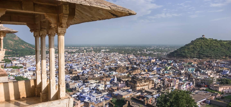 Vue de Bundi depuis le palais - Inde